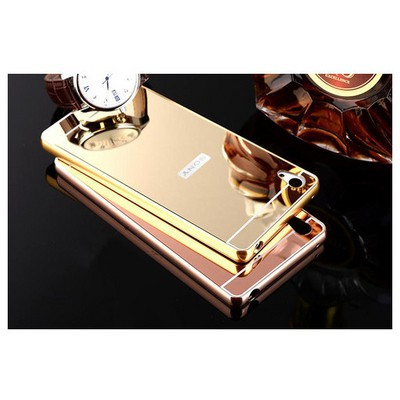 Microsonic Sony Xperia Z5 Premium Kılıf Luxury Mirror Gold Cep Telefonu Kılıfı