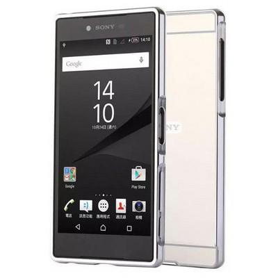 Microsonic Sony Xperia Z5 Premium Kılıf Luxury Mirror Gümüş Cep Telefonu Kılıfı