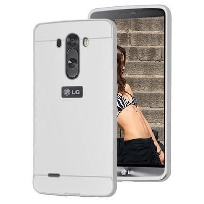 Microsonic Lg G3 Kılıf Luxury Mirror Gümüş Cep Telefonu Kılıfı