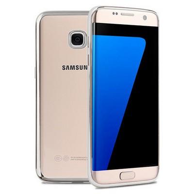 Microsonic Samsung Galaxy S7 Edge Kılıf Flexi Delux Gümüş Cep Telefonu Kılıfı