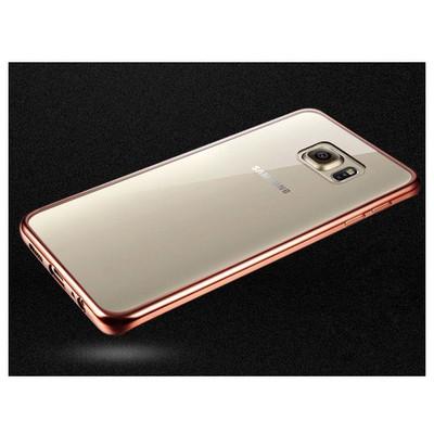 Microsonic Samsung Galaxy S7 Edge Kılıf Flexi Delux Rose Gold Cep Telefonu Kılıfı