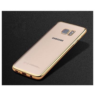 Microsonic Samsung Galaxy S7 Edge Kılıf Flexi Delux Gold Cep Telefonu Kılıfı