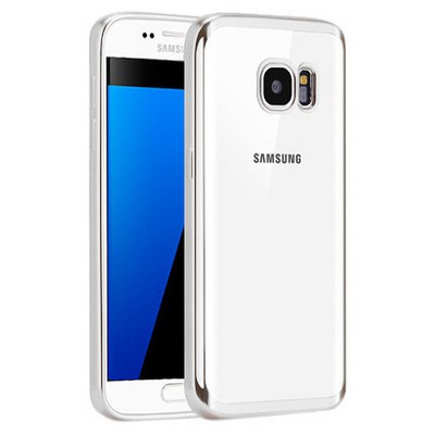 Microsonic Samsung Galaxy S7 Kılıf Flexi Delux Gümüş Cep Telefonu Kılıfı