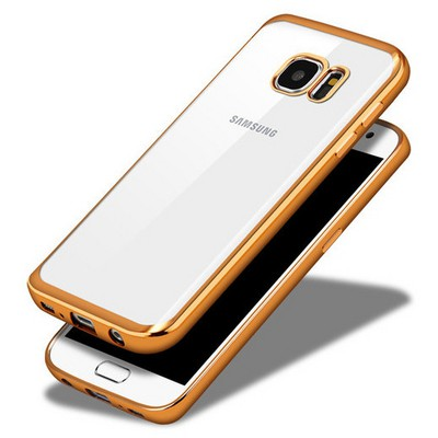 Microsonic Samsung Galaxy S7 Kılıf Flexi Delux Gold Cep Telefonu Kılıfı