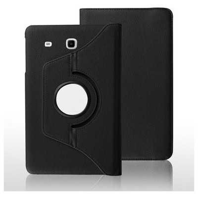 Microsonic Samsung Galaxy Tab E 8.0'' T377 Kılıf 360 Rotating Stand Deri Siyah Tablet Kılıfı