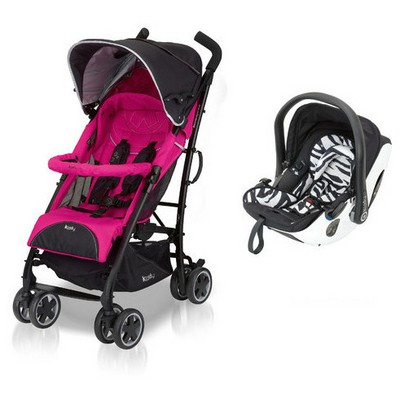 Kiddy Evolution Pro2 City'n Move  Zebra Pink Travel Sistem Bebek Arabası