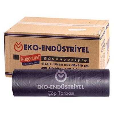 Koroplast Çöp Poşeti Eko Profesyonel Jumbo Boy 80x110 Cm Siyah 1 Koli Çöp Torbaları