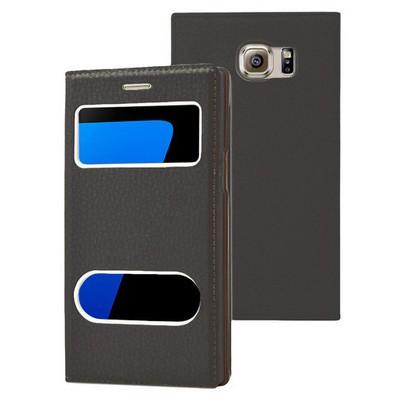 Microsonic Samsung Galaxy S7 Kılıf Gizli Mıknatıslı View Delux Siyah Cep Telefonu Kılıfı