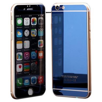 Microsonic Iphone 6s Plus Mirror Temperli Cam Ekran Koruyucu Ön + Arka Mavi Ekran Koruyucu Film