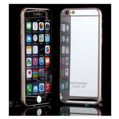 Microsonic Iphone 6s Plus Mirror Temperli Cam Ekran Koruyucu Ön + Arka Gümüş Ekran Koruyucu Film
