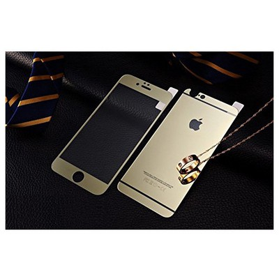 Microsonic Iphone 6s Plus Mirror Temperli Cam Ekran Koruyucu Ön + Arka Gold Ekran Koruyucu Film
