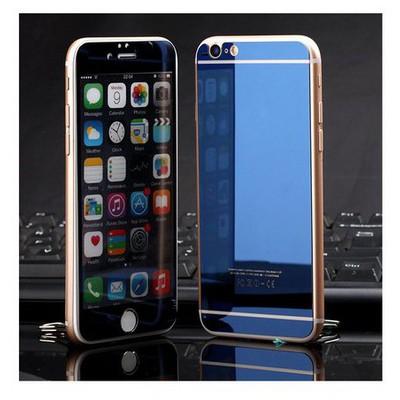 Microsonic Iphone 6s Mirror Temperli Cam Ekran Koruyucu Ön + Arka Mavi Ekran Koruyucu Film