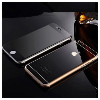 Microsonic Iphone 6s Mirror Temperli Cam Ekran Koruyucu Ön + Arka Siyah Ekran Koruyucu Film