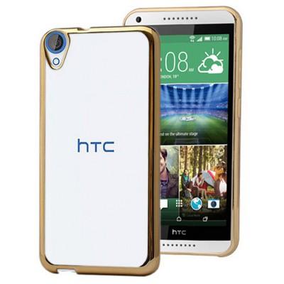 Microsonic Htc Desire 820 Kılıf Flexi Delux Gold Cep Telefonu Kılıfı