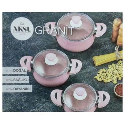 Aksu Extra Granit 3 Lü Güveç Set Tencere