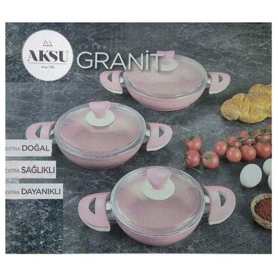aksu-extra-granit-3-lu-omlet-set