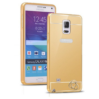 Microsonic Samsung Galaxy Note 4 Kılıf Luxury Mirror Gold Cep Telefonu Kılıfı