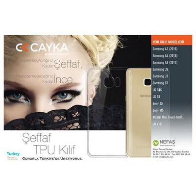 Cayka Cs-tpu-sam-a7 Samsung A7 (2016) Tpu Şeffaf Kılıf Cep Telefonu Kılıfı