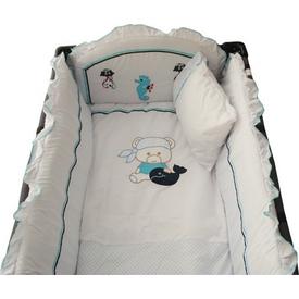 Sunny Baby 728 Lüks Oyun Parkı Uyku Seti Ayıcıklı Mavi Bebek Uyku Seti