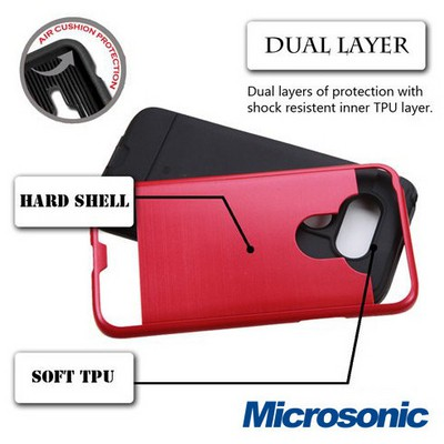 Microsonic Lg G5 Kılıf Slim Heavy Duty Kırmızı Cep Telefonu Kılıfı