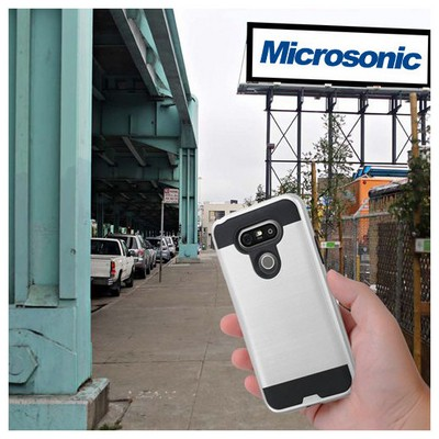 Microsonic Lg G5 Kılıf Slim Heavy Duty Gümüş Cep Telefonu Kılıfı