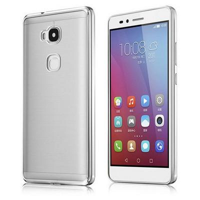 Microsonic Huawei Gr5 (honor 5x/x5) Kılıf Flexi Delux Gümüş Cep Telefonu Kılıfı