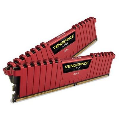 Corsair Vengeance Kırmızı Ddr4-2400mhz Cl14 16gb (2x8gb) Dual (14-16-16-31) RAM