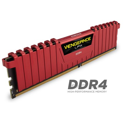 Corsair Vengeance LPX Red 2x8GB RAM (CMK16GX4M2A2400C14R)