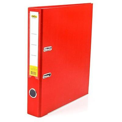 Ofix Plastik Klasör Dar 25'li Paket Kırmızı Dosya