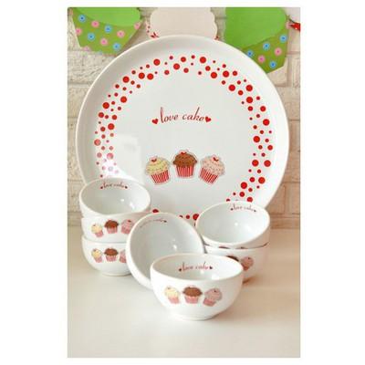 Keramika Set Hıtıt Kahvaltı 8 Parca Beyaz 004 Fruıt Cake A Kahvaltı Takımı