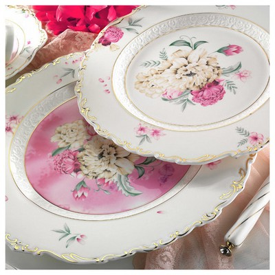 Kütahya Porselen Bone China 38 Parça 21100 Desen Kahvaltı Takımı
