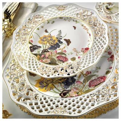 Kütahya Porselen Bone China 38 Parça 21102 Desen Kahvaltı Takımı Tabak