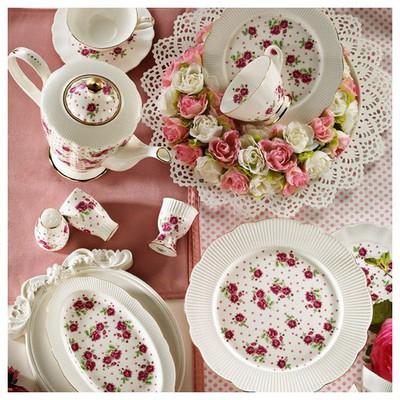 Kütahya Porselen Bone China 44 Parça 65101 Desen Kahvaltı Takımı