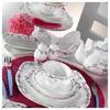 Kütahya Porselen Bone China 44 Parça 50100 Desen Kahvaltı Takımı Tabak