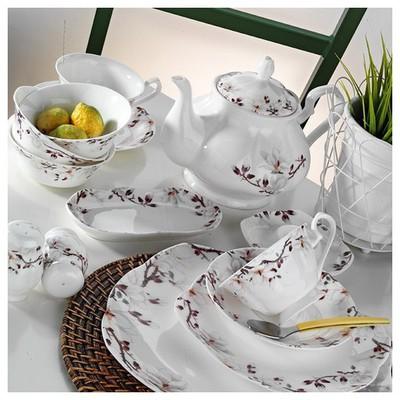 Kütahya Porselen Bone China 44 Parça 50101 Desen Kahvaltı Takımı