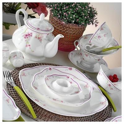 Kütahya Porselen Bone China 44 Parça 50104 Desen Kahvaltı Takımı