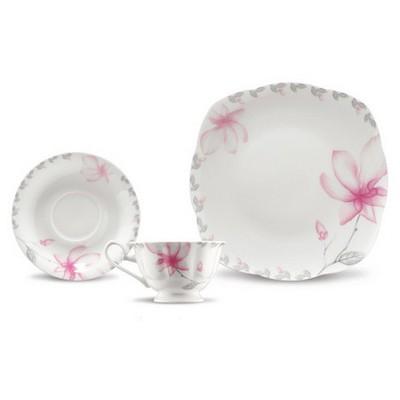 Kütahya Porselen Bone China 44 Parça 50105 Desen Kahvaltı Takımı Tabak