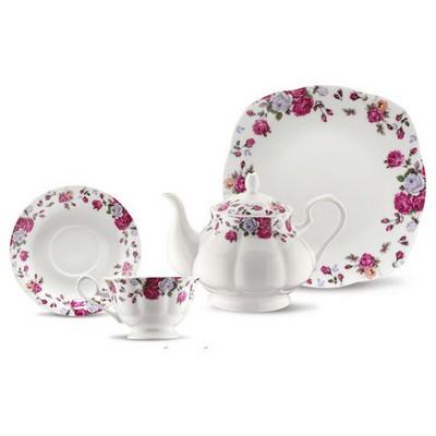 Kütahya Porselen Bone China 44 Parça 50106 Desen Kahvaltı Takımı