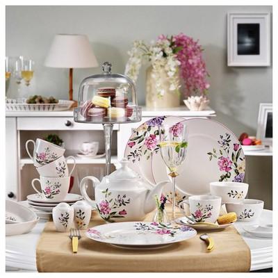 Kütahya Porselen 33 Parça 8373 Desen Kahvaltı Takımı Tabak