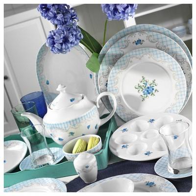 Kütahya Porselen 8907 Leonberg 43 Parça Desen Kahvaltı Takımı