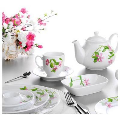 Kütahya Porselen Yasemin 38 Parça 5455 Dekor Kahvaltı Takımı