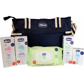 Chicco 5642 Yeni Anne Kozmetik Çantalı Set Mavi Bebek Bakım Ürünü