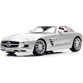 Maisto Mercedes Sls Amg 1:18 Model Araba P/e Gri Arabalar