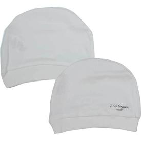 Baby Center S76056 2li Organik Bebek Şapkası Ekru Şapka, Bere, Kulaklık
