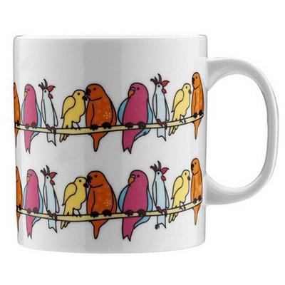 Kütahya Porselen Teldeki Kuş Kupa Bardak & Kupa