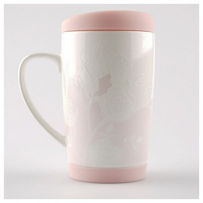 Kütahya Porselen Slikon Kapaklı Mug Bardak Bardak, Kupa, Sürahi