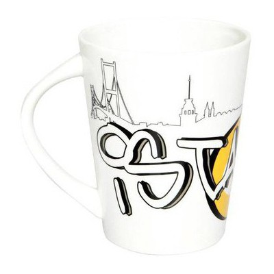 Kütahya Porselen Toledo 253911 Dekorlu Istanbul Kupası Bardak & Kupa