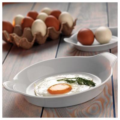 Kütahya Porselen Tavola Serisi Porselen Yumurta Sahanı Fırın Kabı