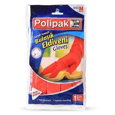 Polikur Polipak Bulaşık Eldiveni Medium (8 - 8.5) Temizlik Eldivenleri