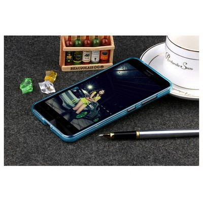 Microsonic Asus Zenfone Max 5.5 Kılıf Transparent Soft Mavi Cep Telefonu Kılıfı